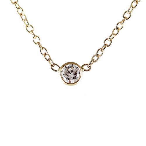 3 MM WHITE DIAMOND NECKLACE