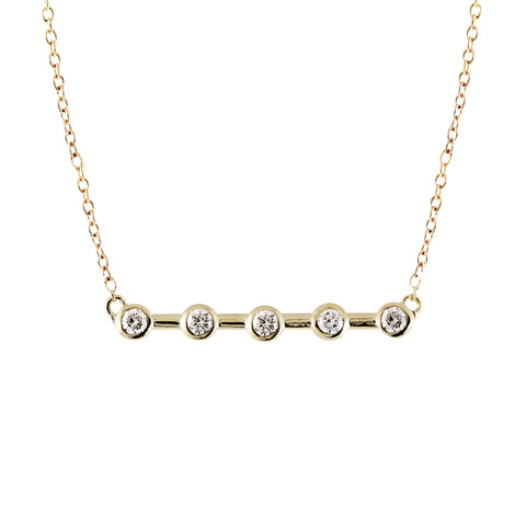 14K CIRCLE WITH TRIPLE PEARLS NECKLACE
