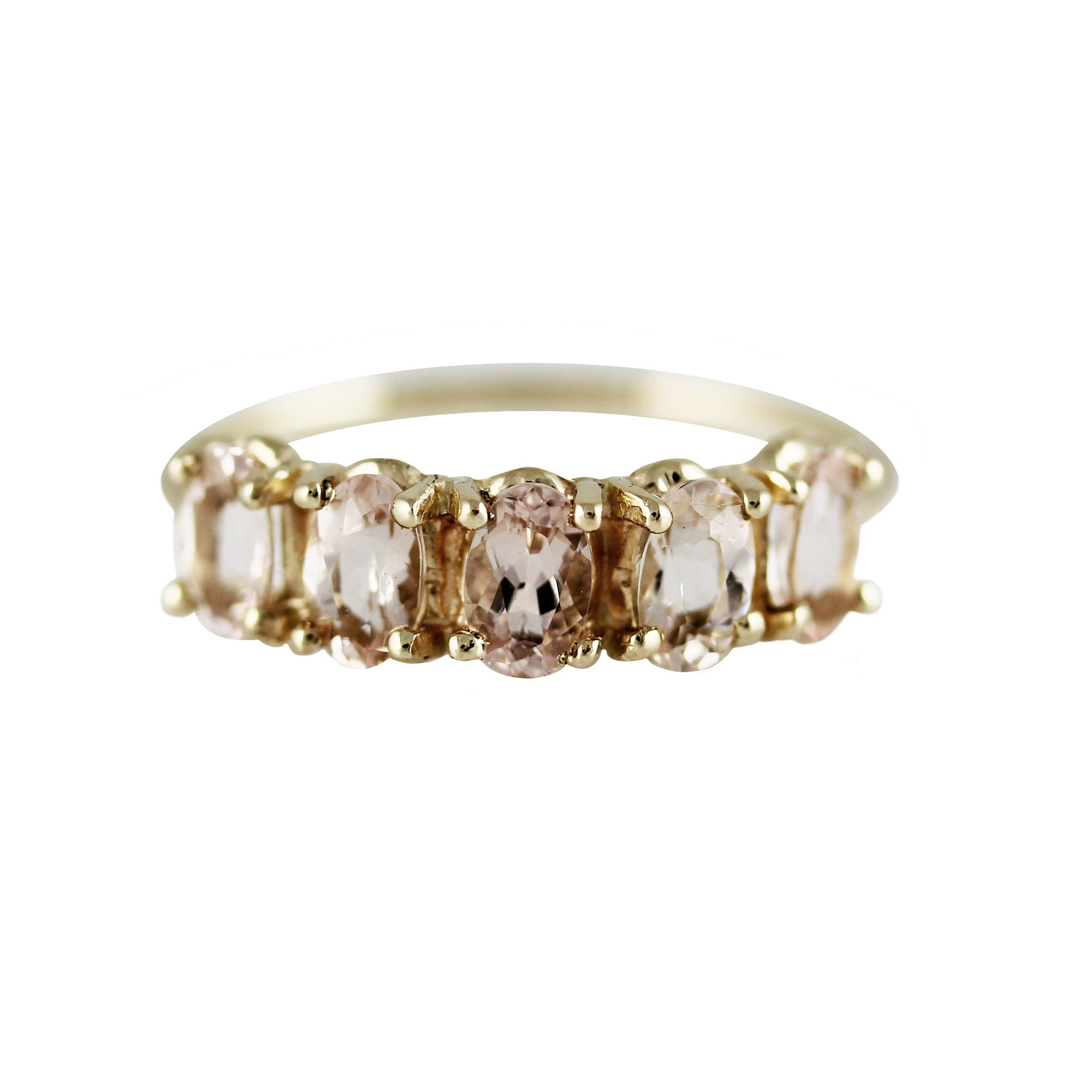 5 OVAL MORGANITE RING