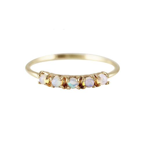 5 SMALL ROUND OPAL RING