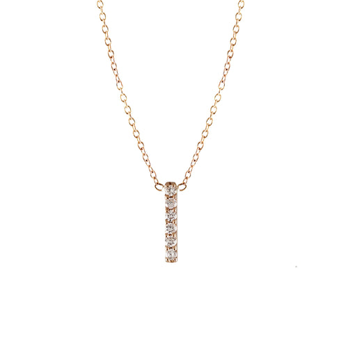 6 DIAMOND PAVE VERTICAL BAR NECKLACE