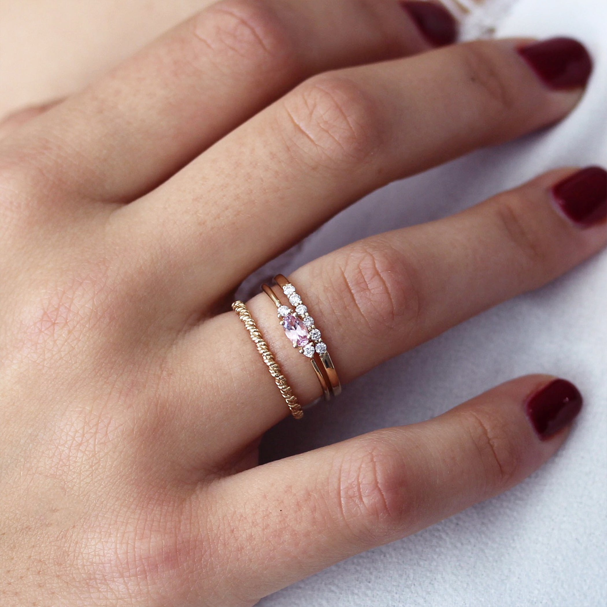 14K MARINE ROPE RING