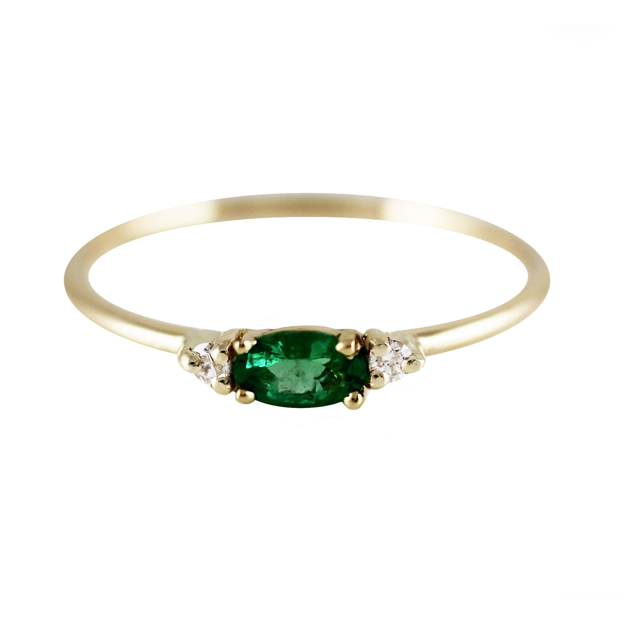 detail rings diamond e index emerald engagement ring setting