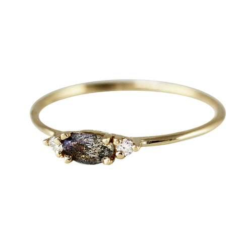 BLACK DIAMOND NUGGET TRIO RING
