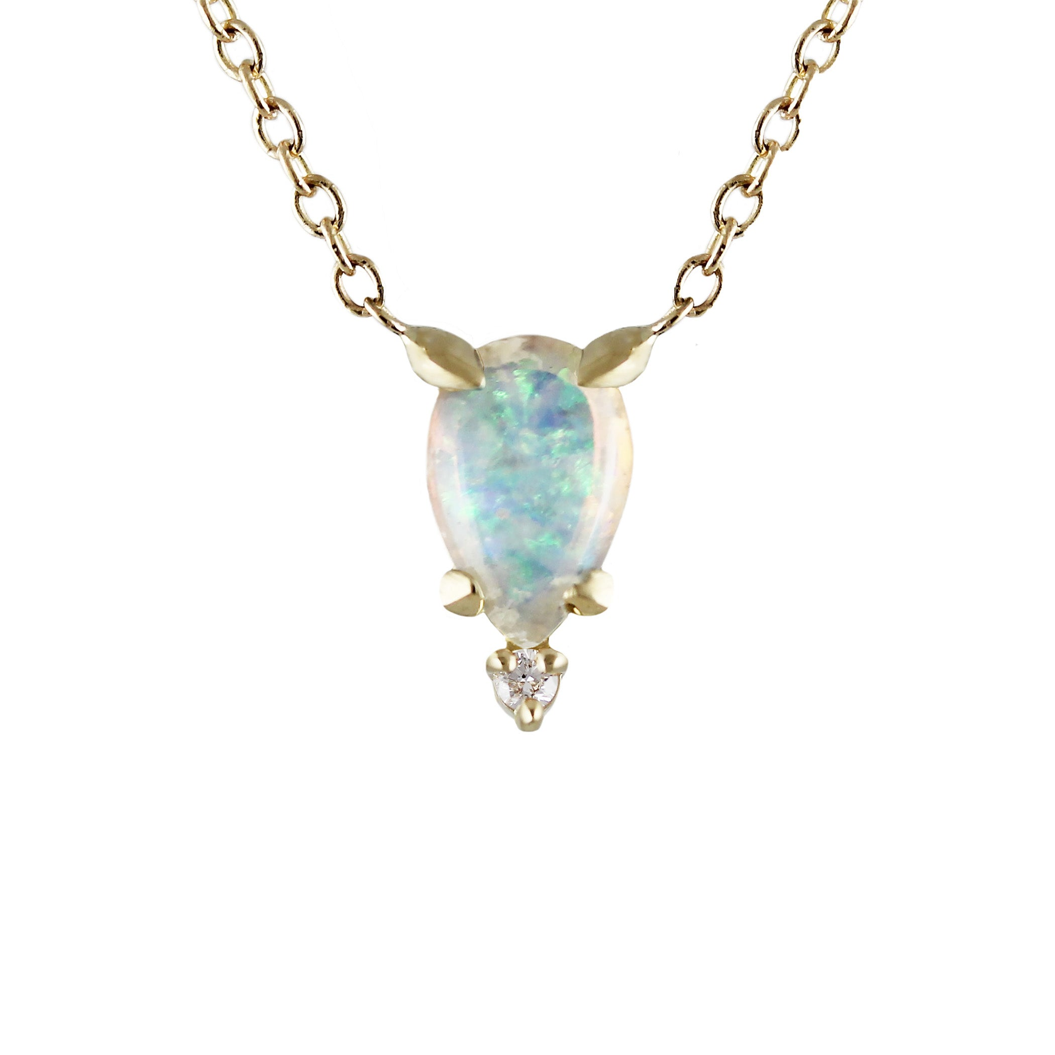 product pineapplep pure opal jewels necklace pineapple karat elle gold by white