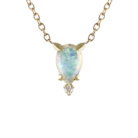 AVA OPAL SILVER NECKLACE