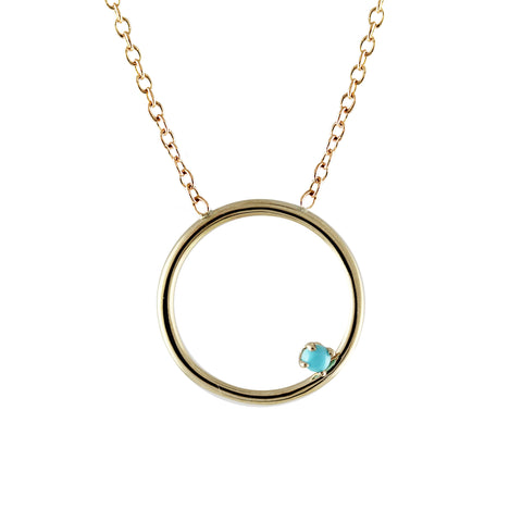 14K CIRCLE NECKLACE