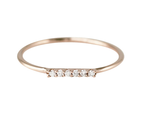 BAR ON TOP WITH DIAMONDS RING
