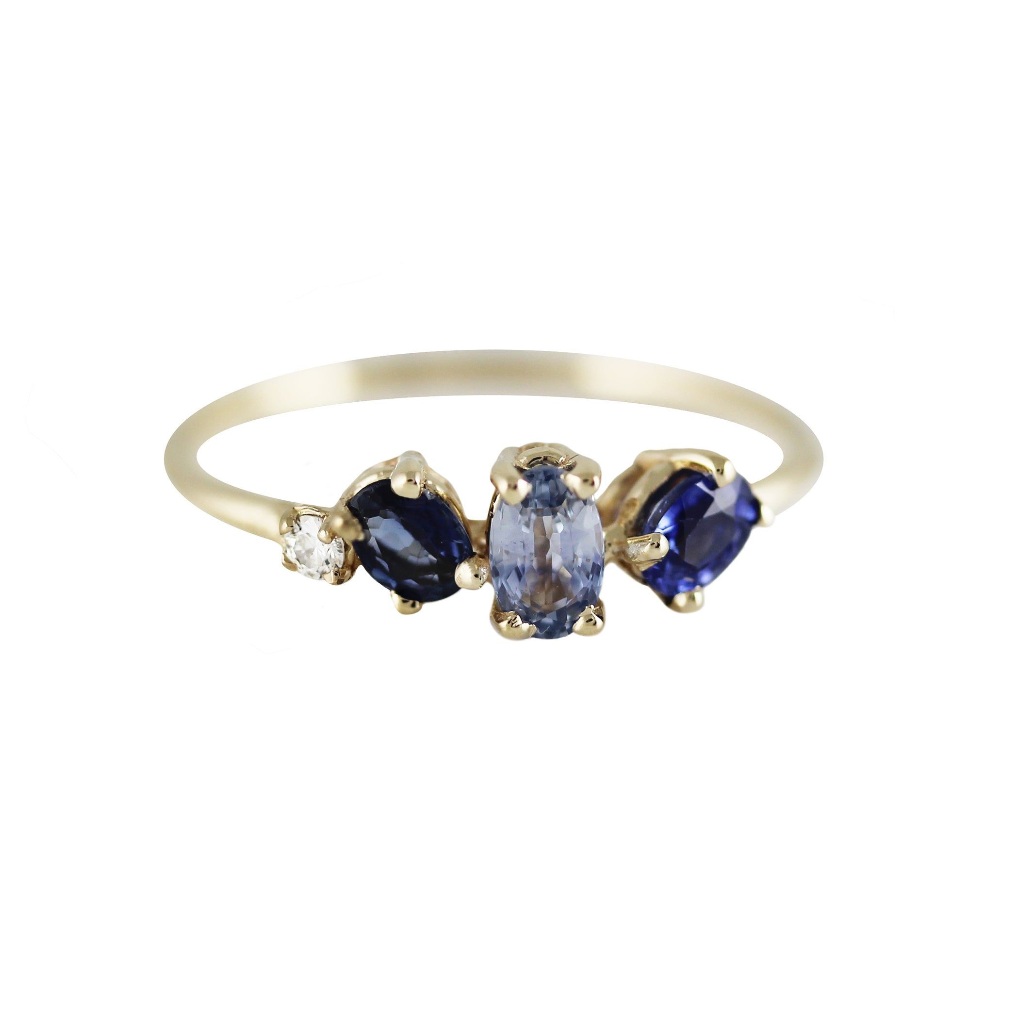 sapphire goldheart ring bands half eternity eboutique diamond