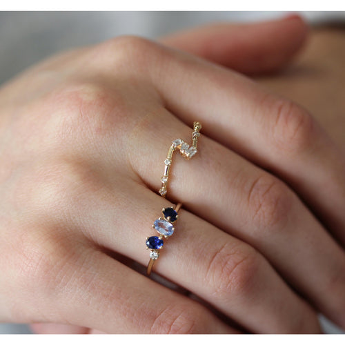 SIDESTEP TRIO BAGUETTE RING
