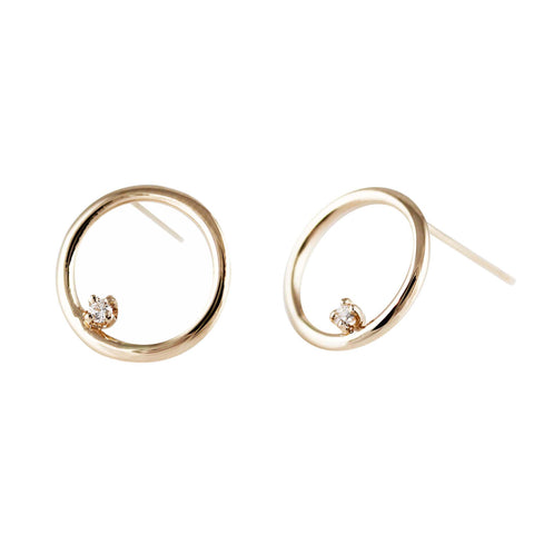 DIAMOND MARQUISE TINY HOOPS