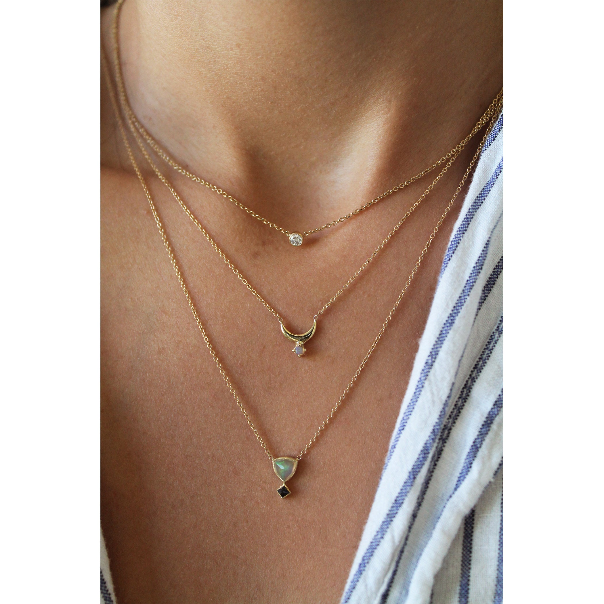 gold necklace charina white products jewelers nespoli opal rose