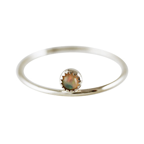 DESSUS OPAL SILVER RING