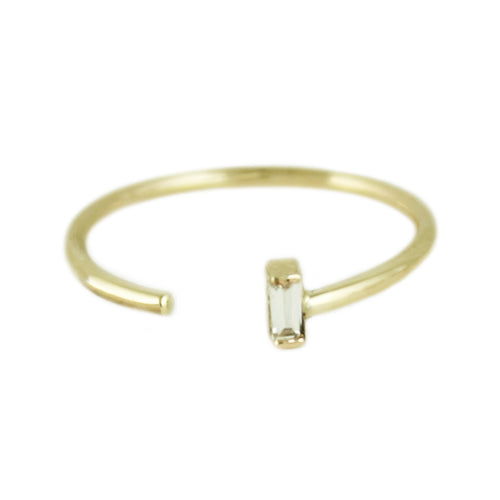 DIAMOND BAGUETTE CUFF RING
