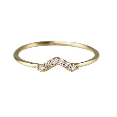 HEXAGONAL WHITE DIAMOND BAND