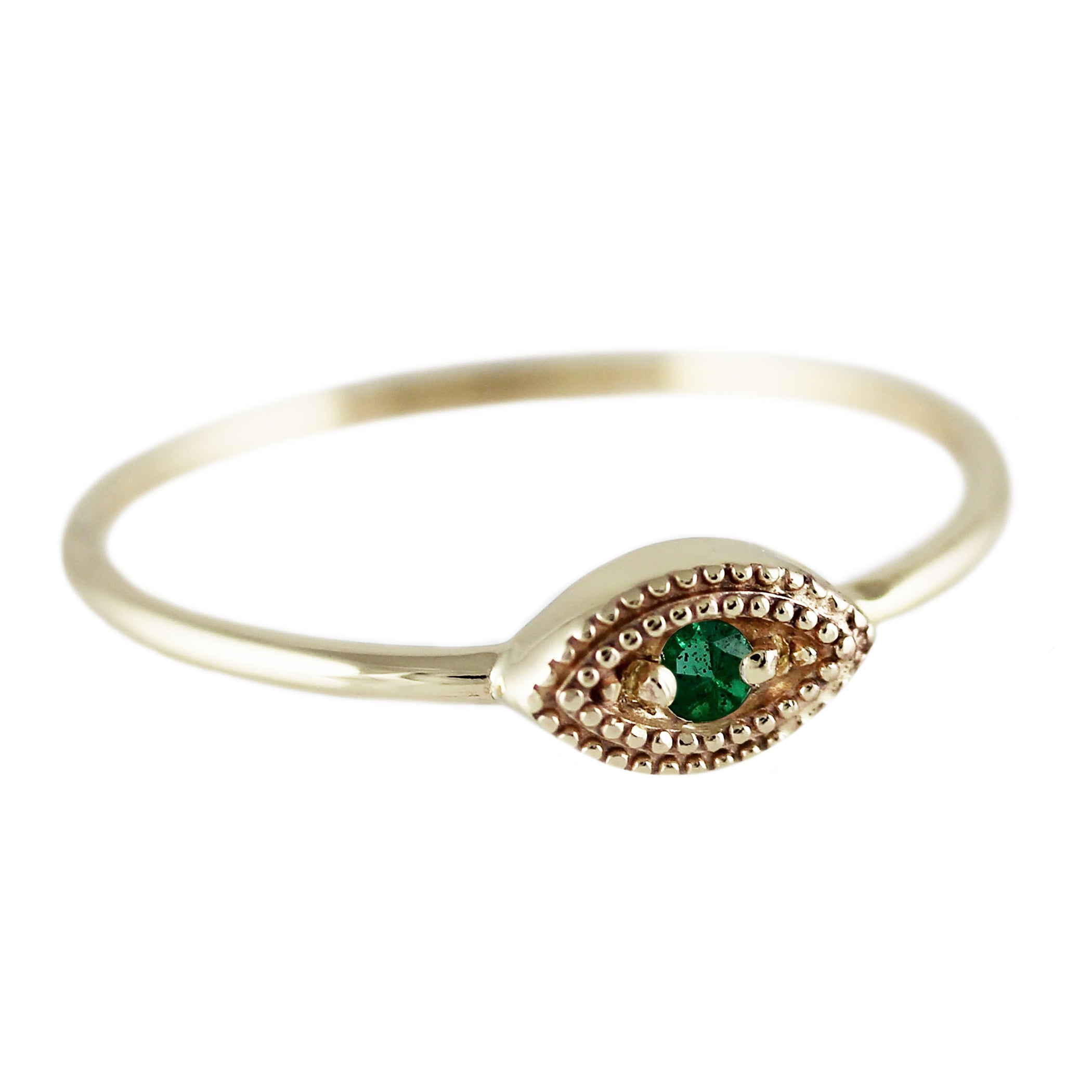 EMERALD EYE RING