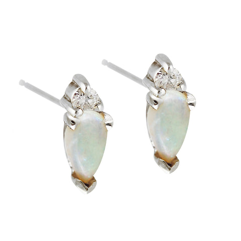 KITTO OPAL WITH TOPAZ SILVER STUDS