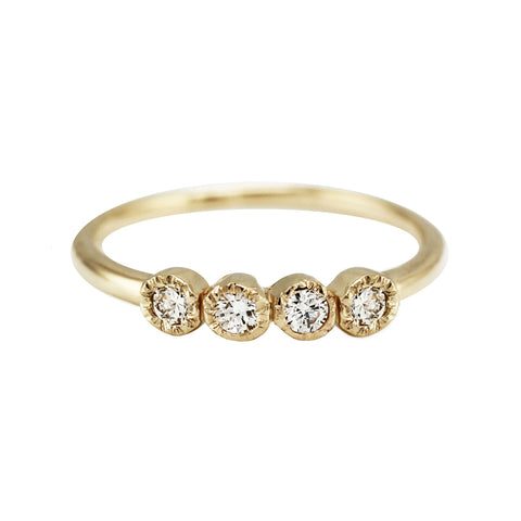 6 DIAMOND CUFF RING