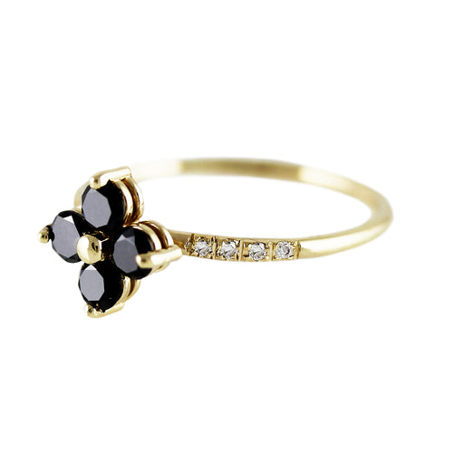 GRANDE BLACK CLOVER RING