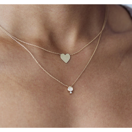 14K GRANDE HEART NECKLACE
