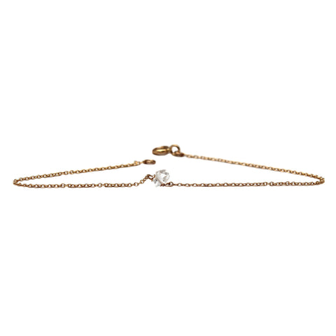 14K MOON WITH DIAMOND BRACELET