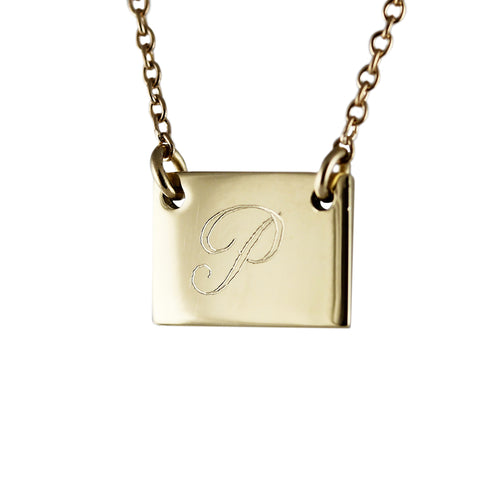 ID GOLD ENGRAVED NECKLACE
