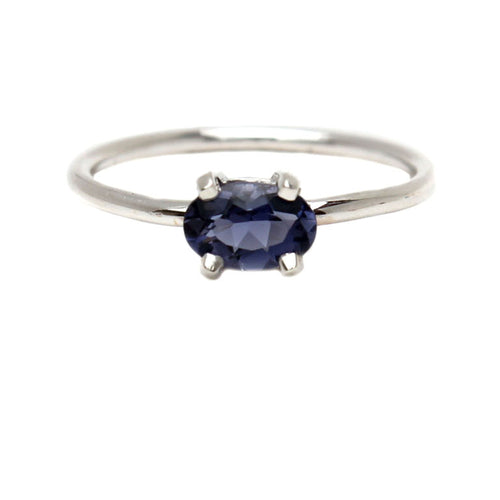 IOLITE OVAL SILVER RING