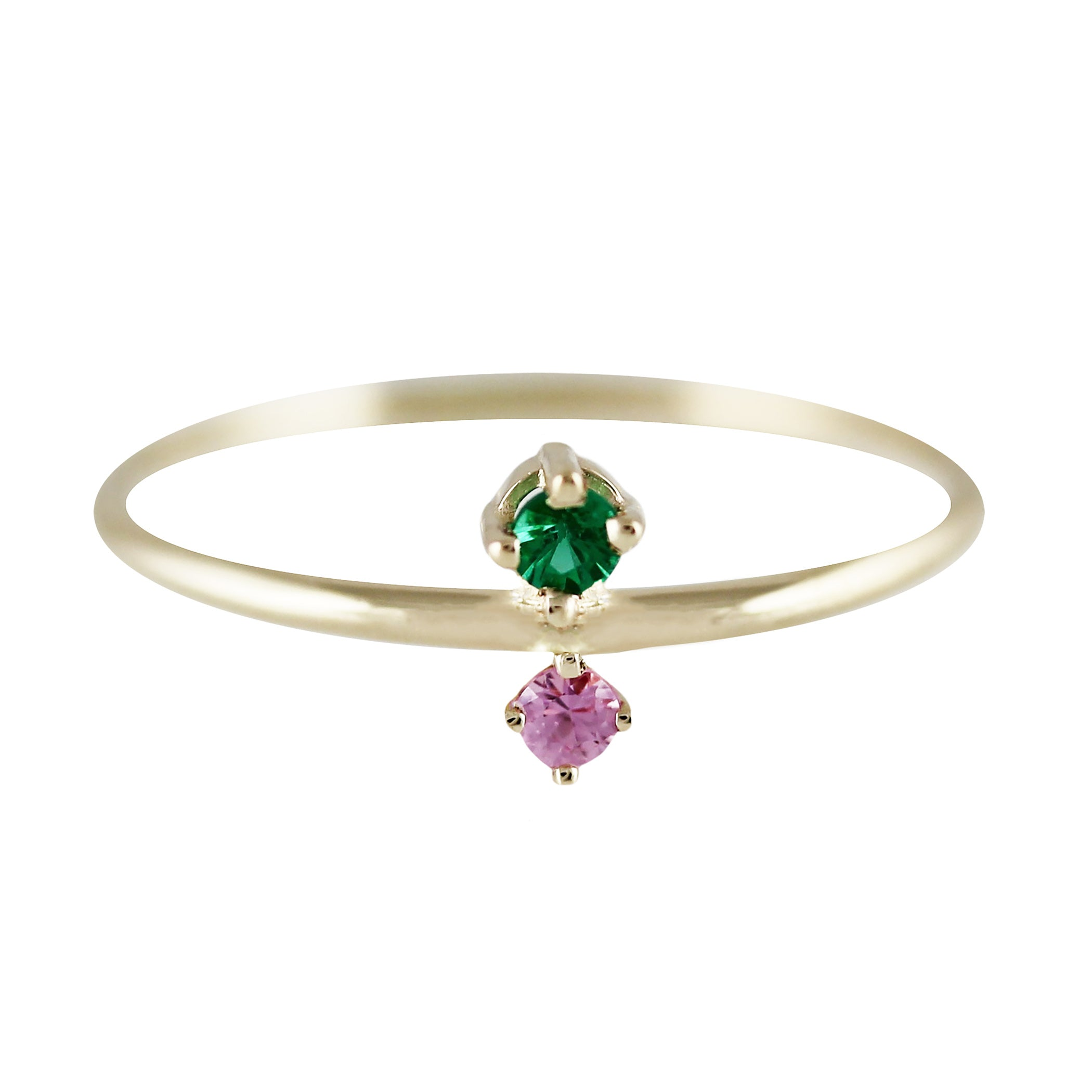 JUMELLE EMERALD AND SAPPHIRE RING