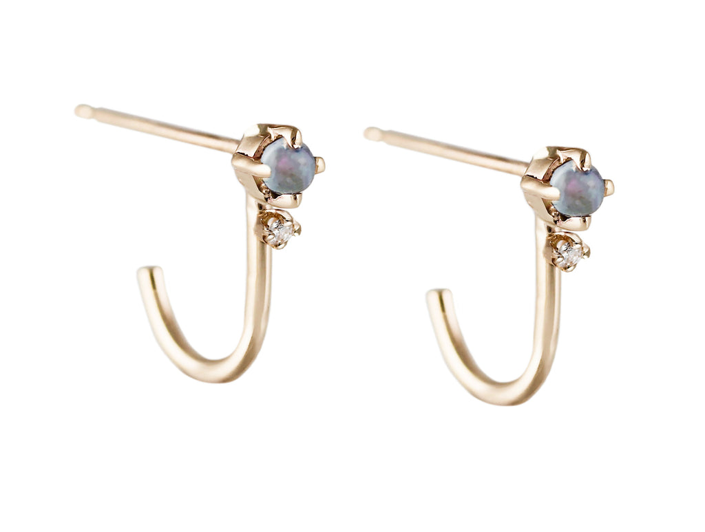 KITTO OPAL WITH DIAMONDS STUDS