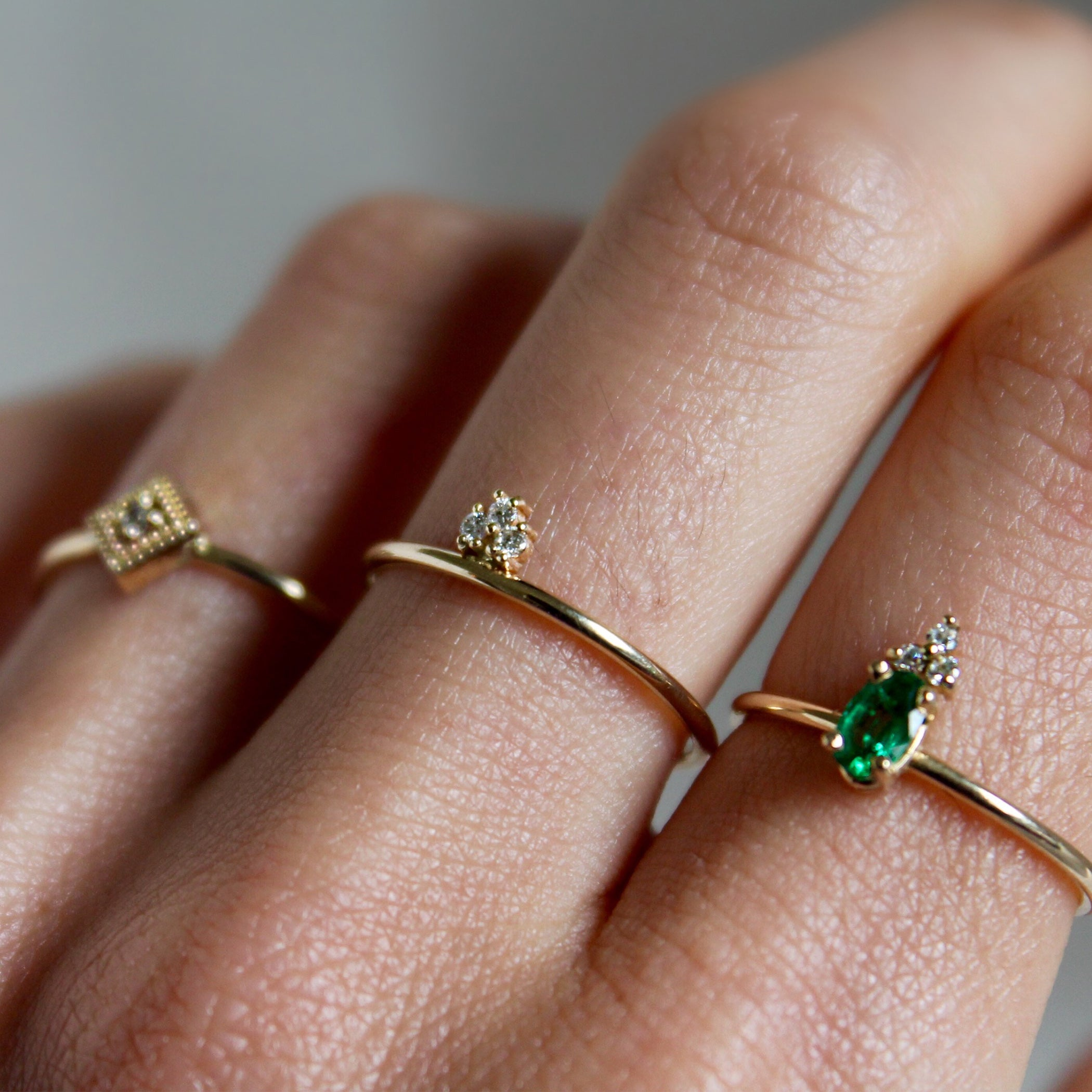 LOUISE EMERALD RING