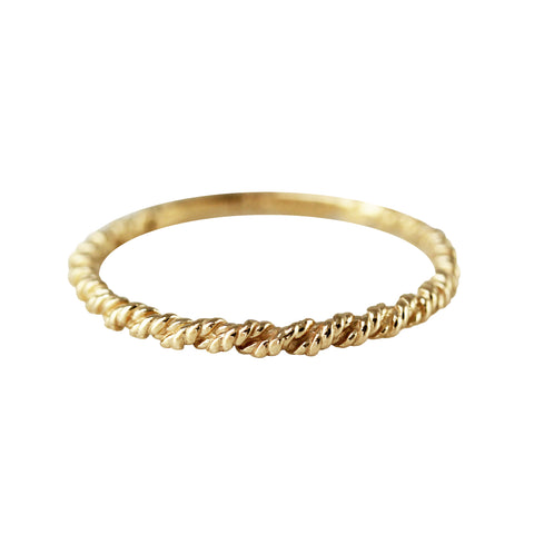 14K SINGLE COGNAC DIAMOND RING