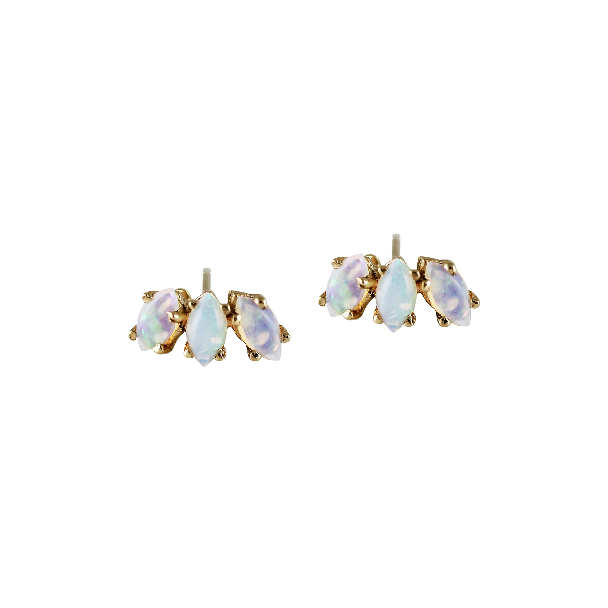 stud black gold diamonds products eleonore moonstone w marquise peach earrings rose morganite