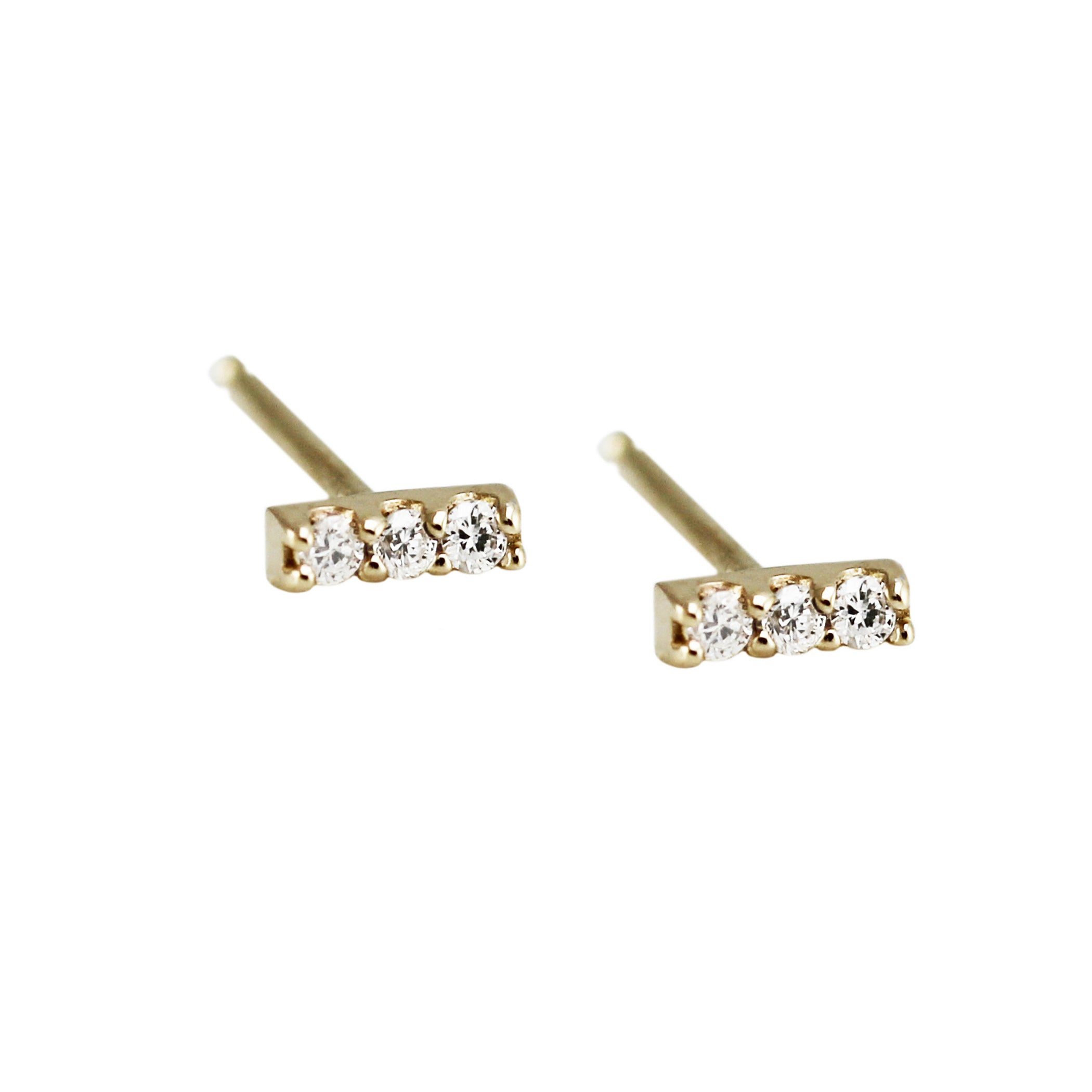 MINI PAVE DIAMOND STUDS