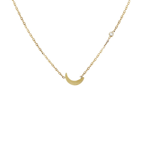 "14K 1"" VERTICAL BAR NECKLACE"