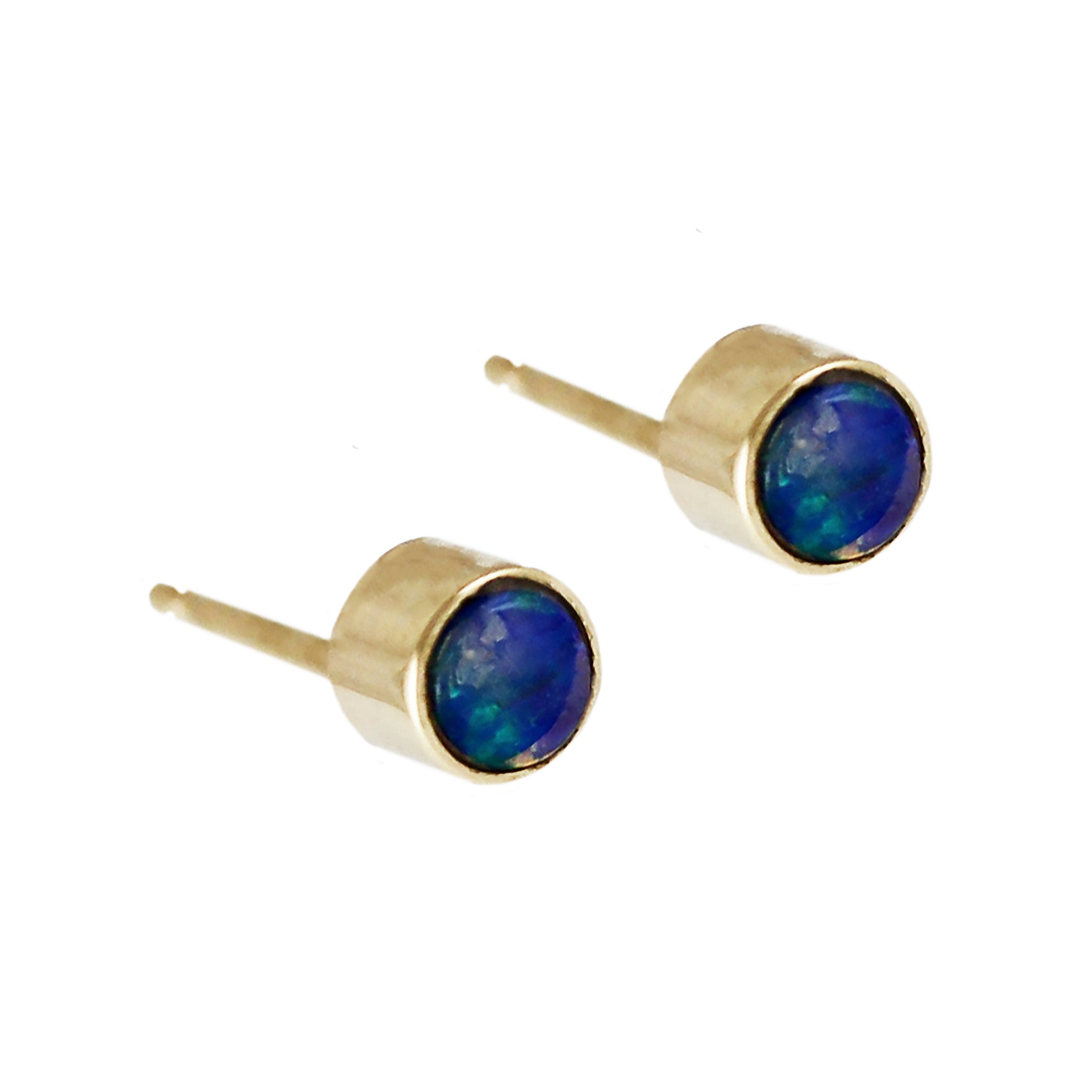 product earrings nice blue oval for from opal lady shape fire stud