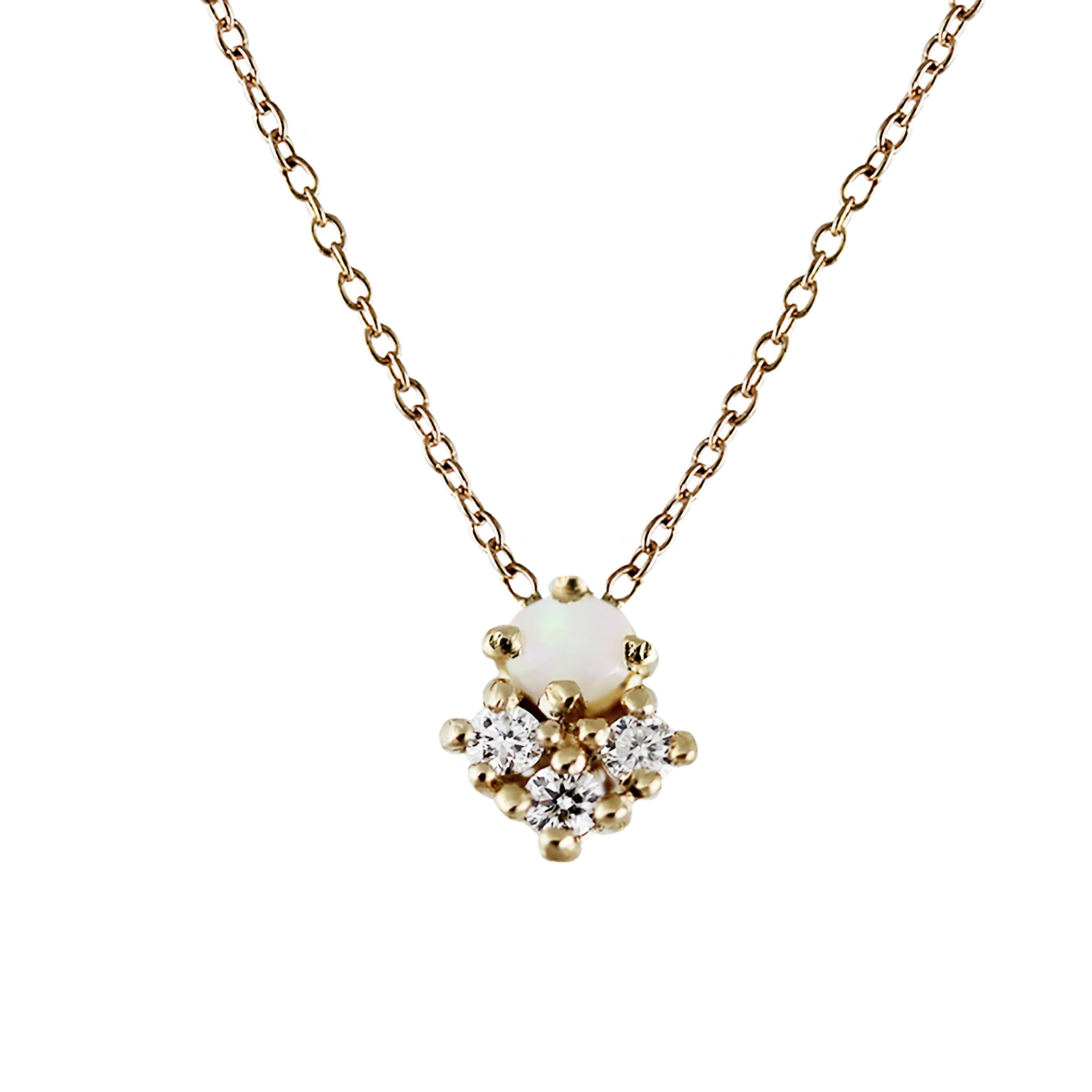princess diamond w round halo white three diamonds pendant gold custom cut product
