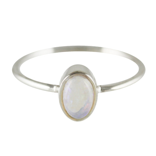 OVAL SILVER RING