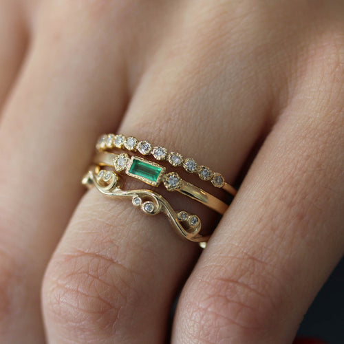 14K CAMILLES EMERALD BAND