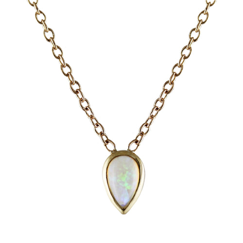 PEAR OPAL NECKLACE