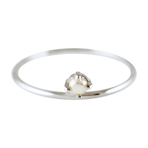 PEARL ON TOP SILVER RING