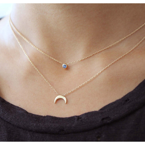 PETITE CRESCENT MOON NECKLACE