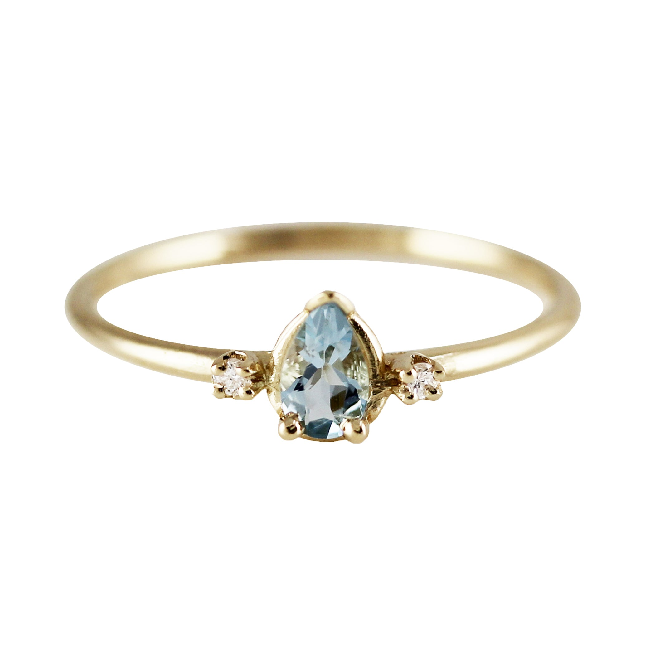 PRINCESS AQUAMARINE RING