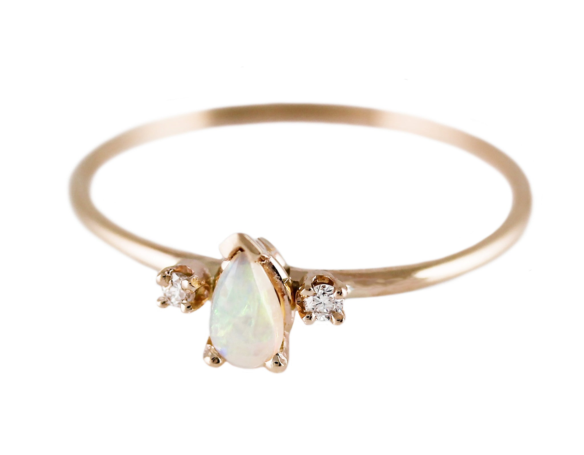 PRINCESS OPAL WITH DIAMONDS RING