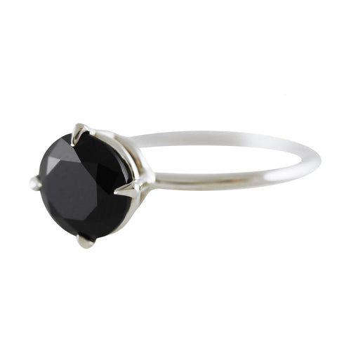 RONDE ONYX SILVER RING