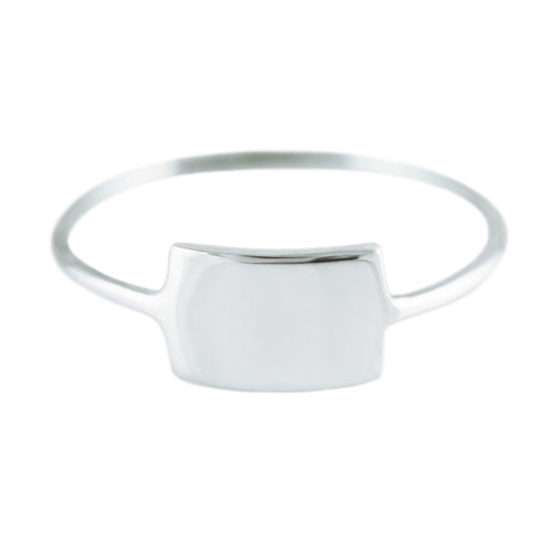 SILVER ID RING