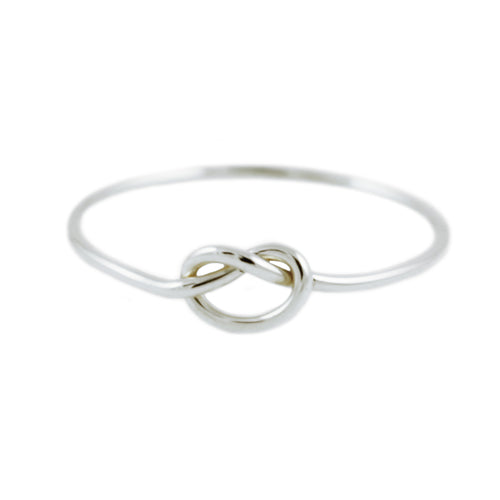 KNOT SILVER RING