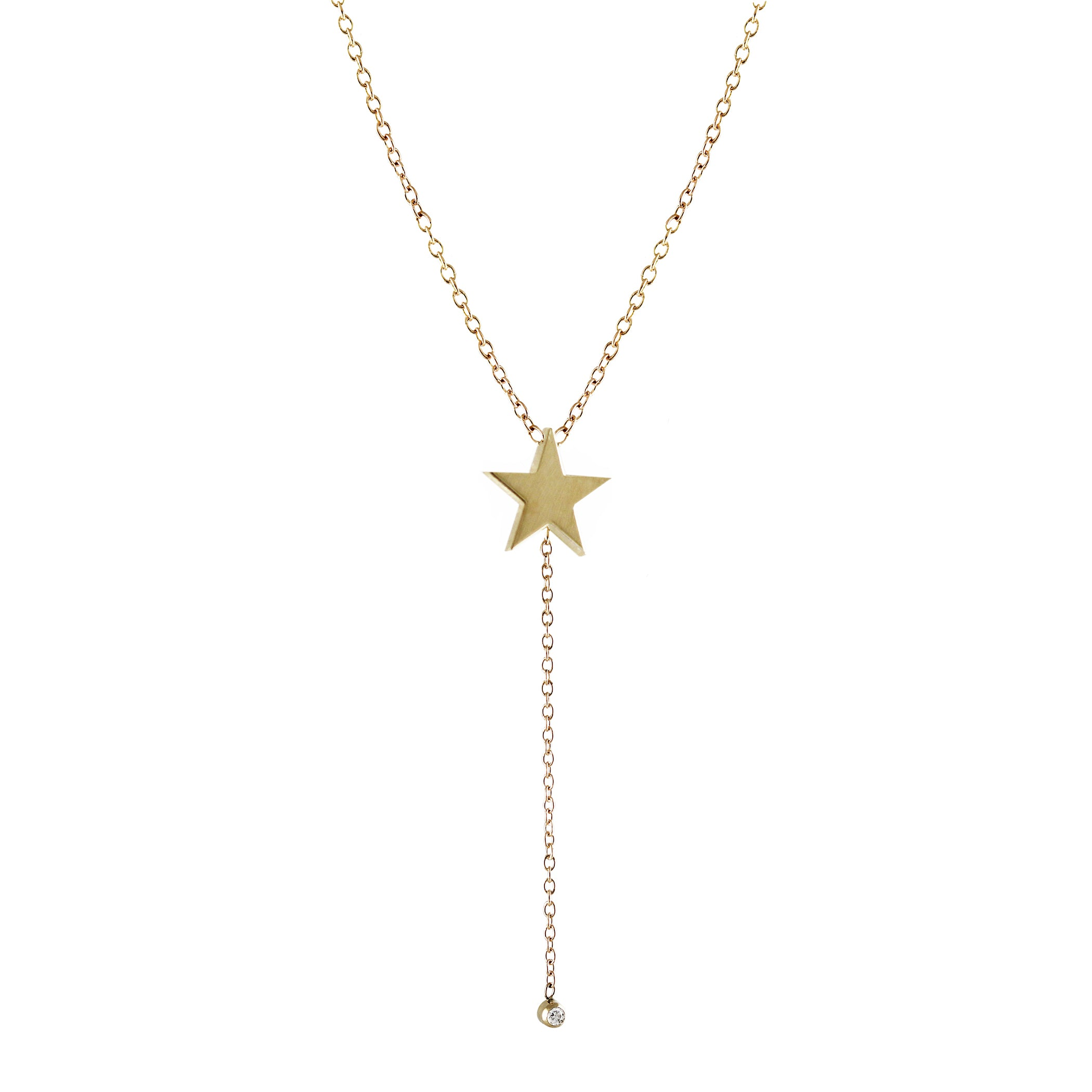 STAR LARIAT WITH DIAMOND END