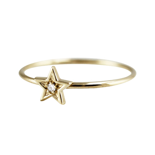 STAR WITH DIAMOND RING