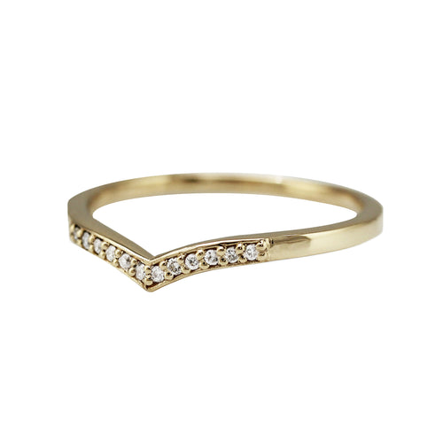 TEARDROP DIAMOND PAVE BAND