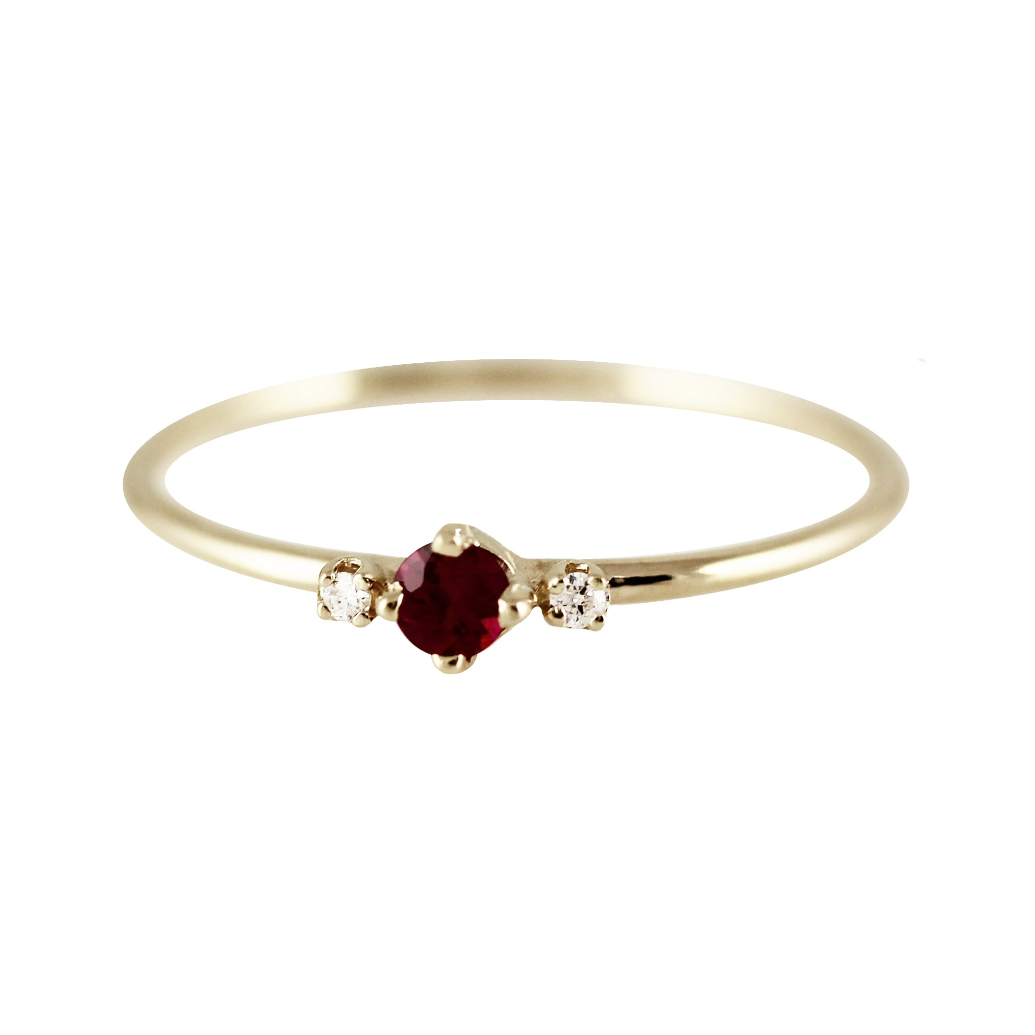 THEA RUBY WITH SIDE DIAMONDS RING
